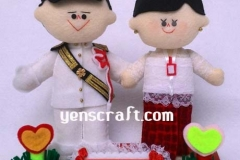 boneka couple profesi ipdn pramugari batik air