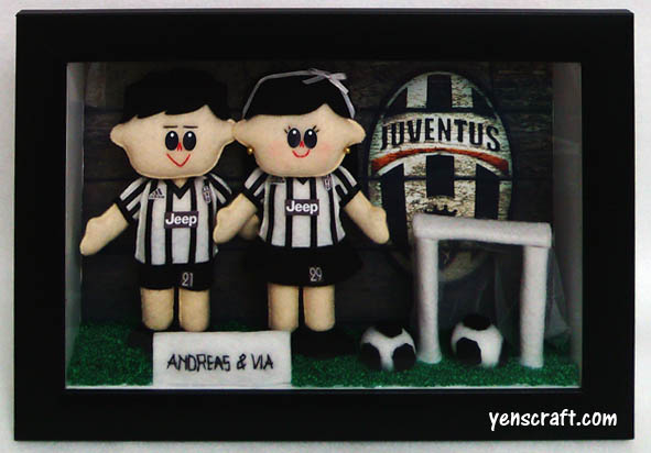 boneka couple jersey juventus via