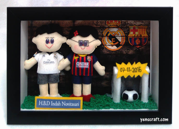 boneka elclasico real madrid barcelona