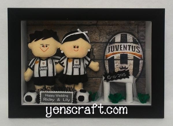kado wedding boneka couple jerey juventus