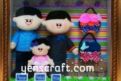 boneka keluarga karyawan bni
