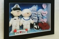 boneka couple pelaut dengan bidan