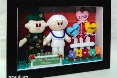 boneka pasangan TNI dengan Bidan