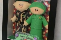 kado ulang tahun boneka couple tni persit