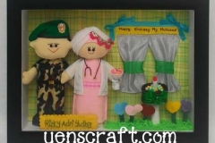 kado ulang tahun suami boneka couple tni bidan