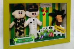 kado ulang tahun untuk cewek boneka couple TNI IPDN