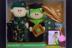 souvenir wisuda boneka couple TNI AD