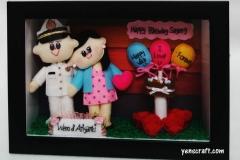 kado ulang tahun berupa boneka couple pelaut