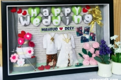 mahar pernikahan dekorasi pigura pernikahan